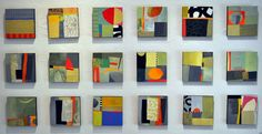 Melody Johnson: Staying out of the rain. I am crazy about Jane Davies small works on panels. Collage, paint, paper.