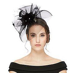 Star by Julien Macdonald - Black floral fascinator Floral Fascinators, Occasion Hats, Julien Macdonald, Debenhams, Star, Black, Women, Fashion, Moda