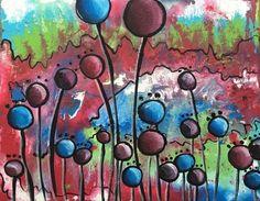 Original Acrylic Painting on Canvas Landscape Flowers Lily's Garden Online Garage Sale, Lily Garden, Outsider Art, Acrylic Painting Canvas, Landscape, The Originals, Flowers, Artist, Ebay