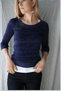 Indicum pullover knitting pattern, but this needs to be longer-like hip length
