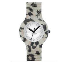 Nella collezione dei tuoi Hip Hop non può mancare la versione Animalier Leopard, con cinturino in stampa leopardo, cristalli Swarovski, quadrante 32 mm