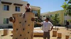 PDPlay joined forces with Community HousingWorks for a project featuring a custom #playground fabricated from a previously removed eucalyptus tree. Our challenge was to turn this giant stump into a series of climbers with a safe egress for children of all ages. A see-saw style rider and a range of log rounds and boulders were incorporated as additional #play components.