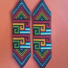 Peyote Stitch Patterns, Seed Bead Patterns, Beading Patterns, Beaded Braclets, Seed Bead Bracelets, Beaded Jewelry, Seed Bead Projects, Geometric Embroidery, Tapestry Crochet