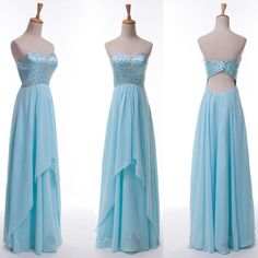Sexy Beaded Long Ball GRAD Quinceanera Dress Evening Prom Bridesmaid Party Gowns