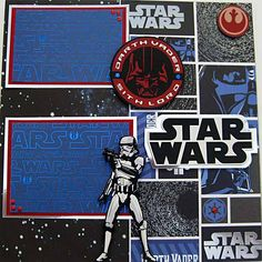 Disney's Star Wars Weekend Scrapbooking Layout Page