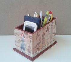 porta controle / organizador vintage | Arte DCasa - Presentes & Decorações | Elo7