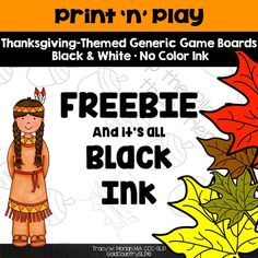 Two Thanksgiving game boards. Game markers included. Great for working on any activity.