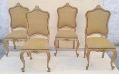 antigo conjunto de cadeiras luis xv estofadas com molas