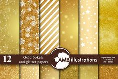 Gold and Glittering papers 589