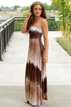 CHOCOLATE OCEAN PAISLEY MAXI DRESS $38.00