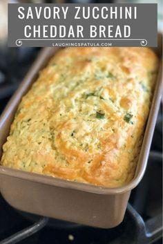 Zucchini Bread Recipes, Quick Bread Recipes, Healthy Zucchini, Paleo Bread, Zuchinni Cheese Bread, Zuchinni Bread Muffins, Zucchini Scones Recipe, Courgette Bread, Cheesy Zucchini Bake