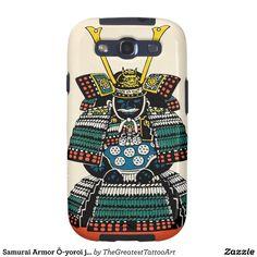 Samurai Armor Ō-yoroi japanese classic art tattoo Samsung Galaxy SIII Case