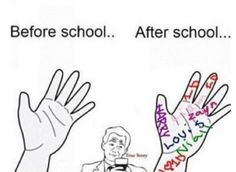 so true...lol. i wrote hazza, dj malik, boo bear, nialler, and daddy direction on my hand...i received a lot of weird looks