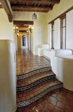 Mexican Home Design, Mexican Style Homes, Hacienda Style Homes, Spanish Style Homes, Ranch Style Homes, Spanish House, Spanish Colonial, Mexican Hacienda Decor, Mexican Home Decor