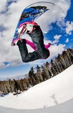 Snowboarding i wish i could be as good as this, but most of the time I've ended up with my face actually in the trail :)
