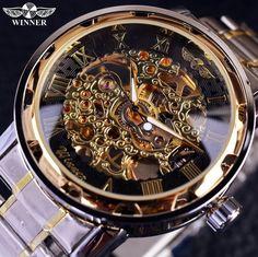Now available on Wrist Gear Enterprises online store: Transparent Gold ...  Check it out here: http://wristgearenterprises.com/products/transparent-gold-watch-men-watches-luxury-clock-men-casual-watch-montre-homme-mechanical-skeleton-watch-1?utm_campaign=social_autopilot&utm_source=pin&utm_medium=pin
