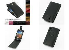 PDair Leather Case for LG Optimus L5 E610 - Flip Top Type (Black)