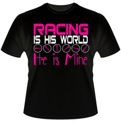 Racing is his world and he is mine neon by DaddyRabbitGraphics
