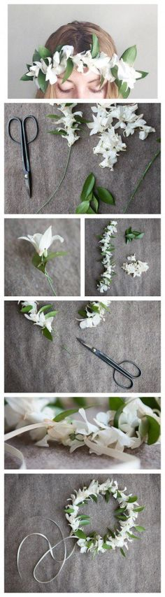 Flower crowns are all the rage these days and we just can't get enough of them! Flower crowns are fun and easy to make, especially if you keep it simple & elegant.For this crown we used simple white orchids and greens with white ribbon for a beautiful effect. Follow our tutorial to make one of …