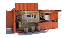 Shipping Container Bar, Coffee, and Restaurant Plans Building A Container Home, Container Buildings, Container Architecture, Sustainable Architecture, Container Coffee Shop, Cargo Container, Container Cabin, Shipping Container Restaurant, Shipping Container Homes