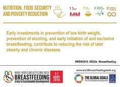 World Breastfeeding Week 2016. Theme 1: Nutrition Food Security and Poverty Reduction. Most people realize that breastfeeding prevents infection and creates a bond between mother and baby but fewer people realize that breastfeeding has a significant impact on preventing chronic diseases such as obesity heart disease diabetes and certain cancers. Breastfeeding is a method to prevent chronic diseases for your children as they age. If you knew you could play a role in the outcome of your…