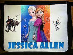 Personalised Bag Messenger/school/bag Frozen Elsa Anna~W40 x H30cm