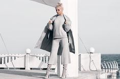 Kristina D. - Gray knitted suit