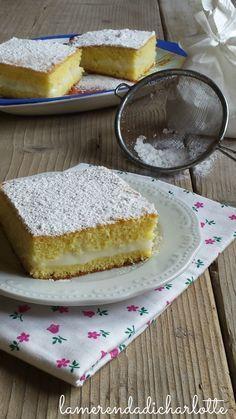 torta allo yogurt con crema al limone. http://www.lamerendadicharlotte.com/torta-allo-yogurt-con-crema-al-limone/