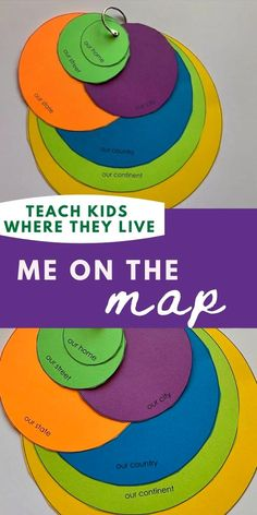 how to teach kids where in the world they live - teach mama Continents Activities, Pre K Activities, Montessori Activities, Geography Activities, Therapy Activities, Geography For Kids, Maps For Kids, Learning English For Kids, Toddler Learning