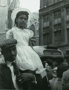 HAPPY FATHER'S DAY 1957 A father and his daughter (unidentified) on the streets of NYC, 1957. Black History Album: The Way We Were. 100 Years of African American Vintage Photography from the end of slavery in the 1860′s to the Black Power Movement of...