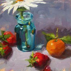 """Daily Paintworks - """"Fruit & Flower"""" - Original Fine Art for Sale - © Karen Werner"""