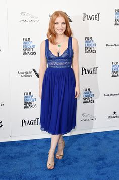 Jessica Chastain in Elie Saab at 2016 Film Independent Spirit Awards