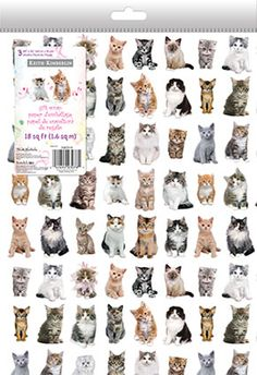 "'Keith Kimberlin - Kittens' - Gift Wrap - Folded (9"" x 13"")"