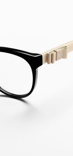Round acetate eyeglasses with CC... - CHANEL