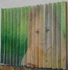 Accordion folded paper, two drawings in one... I remember doing this as well. What can I have them draw that they would actually be excited to try doing well?