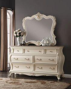 Meridian Furniture Marquee Pearl White Dresser