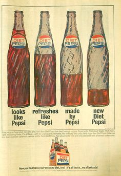 If you were born in 1964, that year Pepsi came out with Diet Pepsi -- the diet cola market was really picking up - no Diet Coke yet - but that company had TaB out and 7Up had their Like soda.