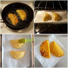 Cocción de las empanadas Cuban Recipes, Spanish Recipes, Venezuelan Food, Empanadas Recipe, Colombian Food, Vegan Cake, Spanish Food, Cauliflower Recipes, Homemade Cakes
