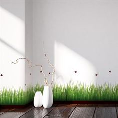 Grass & Ladybugs Border Decal - Home D�cor Line Wall Decals