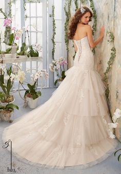Blu - 5405 - All Dressed Up, Bridal Gown - Morilee - Chattanooga TN's All Dressed Up Bridal Shop / Bridal Boutique offers Wedding Gowns, Prom Dresses & Tuxedo Rentals