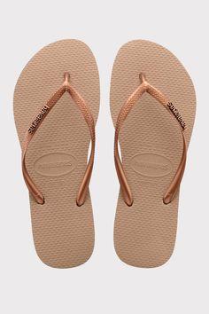 5648ba326ba Havaianas Slim Logo Metallic Jandals - Jandals | North Beach North Beach,  Flats, Sandals