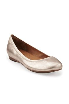 {Clarks Plush Dot Ballet Flat In Gold}