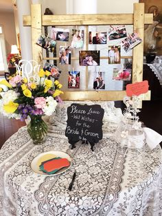 Bridal shower entry table