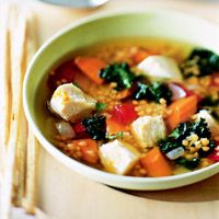 Kale, Lentil & Chicken Soup
