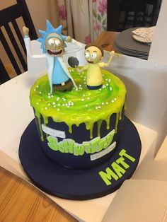 rick and morty cake My birthday cake : rickandmorty Funny Birthday Cakes, Birthday Cakes For Teens, Birthday Cake Decorating, Birthday Cake Girls, 21st Birthday, Horror Cake, Ricky Y Morty, Rick Und Morty, Teen Cakes