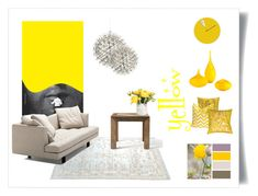 yellow by levai-magdolna on Polyvore featuring interior, interiors, interior design, home, home decor, interior decorating, Bensen, Flamant, Cyan Design and Clarissa Hulse