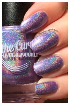 After yesterday's goodbye Spring manicure, I figured today would be the perfect day to share the Ultra Holo Collection from Above the Curve. This collection consist… Manicure, Nails, Nail Artist, Swatch, Hair Makeup, Nail Polish, Aesthetics, Make Up, Purple