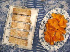 Apfelstrudel und Kaki www.weingartenpfirsichhof.com Cooking, Desserts, Apple Strudle, Peach, Kochen, Baking Center, Postres, Deserts, Cuisine