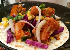 Spicy baked cauliflower and salmon tacos — Kitchening Around