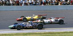 Indy 500, 1965: Jackie Stewart (#43) lines up between Jerry Grant (#88) and Billy Foster (#27) on the fourth row. Stewart led 40 laps before finishing sixth.